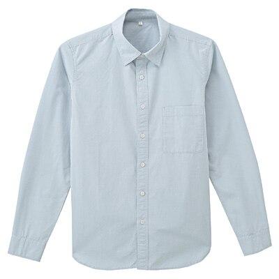 オーガニックコットンブロードシャツ 紳士M・ベビーブルー