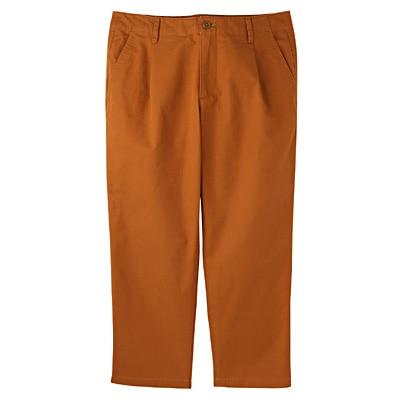 オーガニックコットンクロップドパンツ 婦人64・スモーキーオレンジ