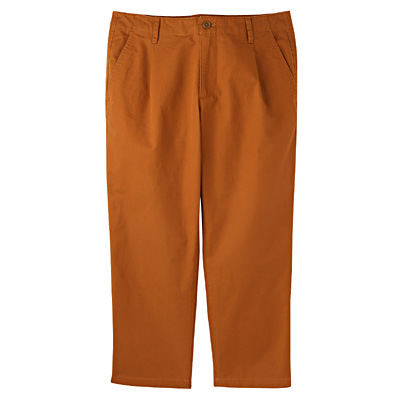 オーガニックコットンクロップドパンツ 婦人67・スモーキーオレンジ