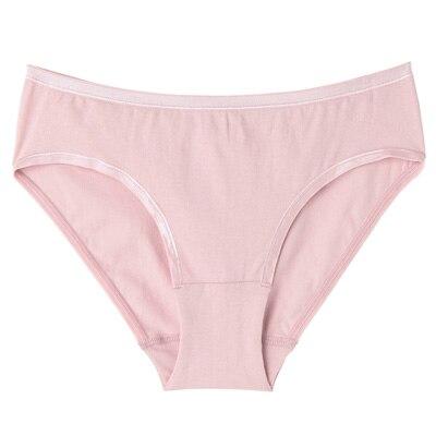 オーガニックコットン混ストレッチミディショーツ 脇に縫い目のない(えらべる) 婦人XL・ピンク