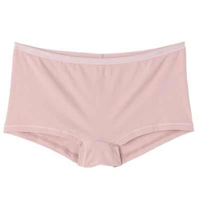 オーガニックコットン混ストレッチボクサーショーツ 脇に縫い目のない(えらべる) 婦人XL・ピンク