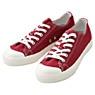 棉水洗撥水加工休閒鞋紅色26.5cm