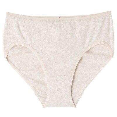 オーガニックコットンフライスミディショーツ 脇に縫い目のない(えらべる) 婦人XL・オートミール