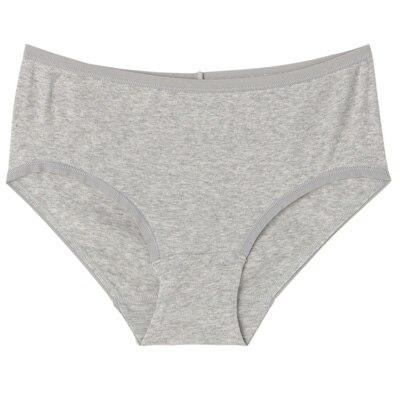 オーガニックコットンフライスヒップハンガーショーツ 脇に縫い目のない(えらべる) 婦人XL・グレー