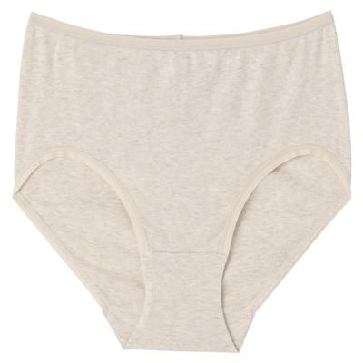 オーガニックコットンフライスハイライズショーツ 脇に縫い目のない(えらべる) 婦人XL・オートミール