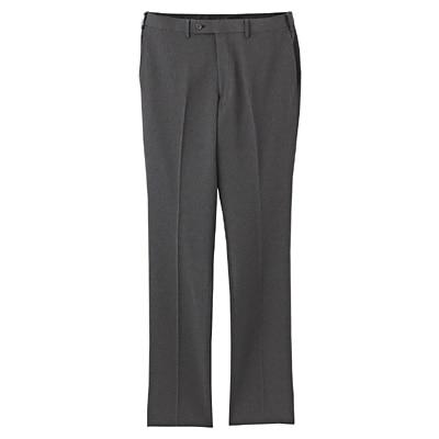 【店舗限定】しわになりにくいウエスト伸縮スリムパンツ 紳士88・チャコールグレー