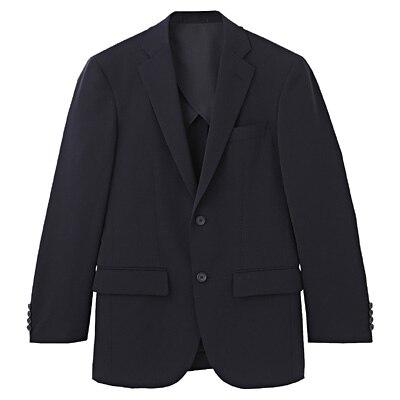 【店舗限定】しわになりにくい二ツ釦ジャケット 紳士S・ネイビー