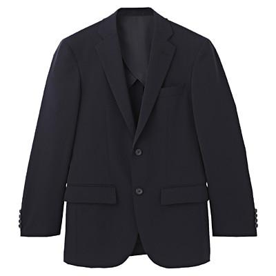 【店舗限定】しわになりにくい二ツ釦ジャケット 紳士XL・ネイビー