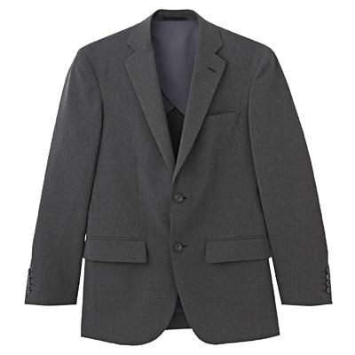 【店舗限定】しわになりにくい二ツ釦ジャケット 紳士S・チャコールグレー