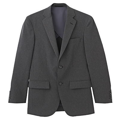 【店舗限定】しわになりにくい二ツ釦ジャケット 紳士M・チャコールグレー