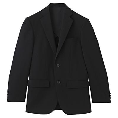 【店舗限定】しわになりにくい二ツ釦ジャケット 紳士S・黒