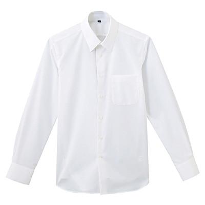 形態安定ブロードストレッチレギュラーカラーシャツ 紳士S・白