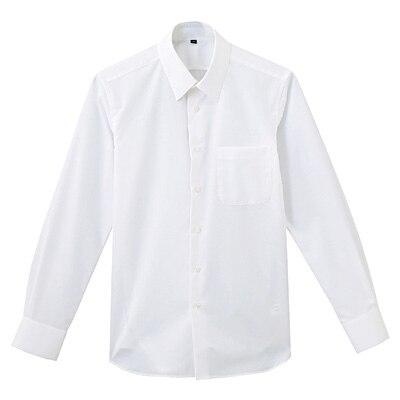 形態安定ブロードストレッチレギュラーカラーシャツ 紳士L・白