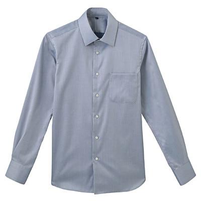 形態安定ツイルストレッチセミワイドカラーシャツ 紳士L・ネイビー