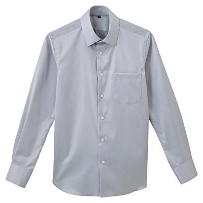 形態安定ツイルストレッチセミワイドカラーシャツ 紳士M・グレー