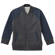 Soft French Terry Letterman Jkt Char Gry Pttn Kids 110