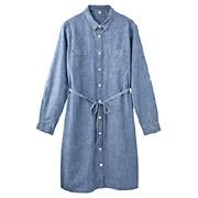 Ogc Chambray Dress Blue S