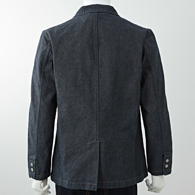 Organic Cotton Oxford Jacket 38003748: Navy