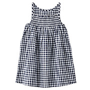 Gingham Camisole Dress Navy*chk 80