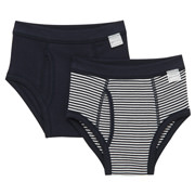 Smooth Brief  2pcs Packed (kids) Navy 110