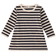 Everyday Kids Wear Border L/s Tunic Navy 80