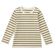 Everyday Kids Wear Border L/s T Shirt Khaki 110