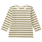 Everyday Kids Wear Border L/s T Shirt Khaki 80