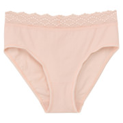 Ogc Mis St Jersey Hi-rise Shorts With Lace Peach S