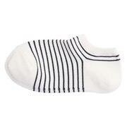 Gd Ft Right Angle Border Sneaker-in Socks 23-25cm Off Wht