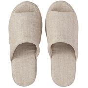 Linen Twill Cushion Open Toe  Slipper M Ecrus16