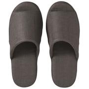 Linen Twill Cushion Open Toe  Slipper S Dark Greys16