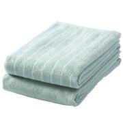 Ct Stripe F/towel Set Gren S16