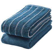 Ct Stripe F/towel Set Navy S16