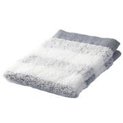 Organic Ct Gauze Pile Soft H/towel Nvy Border 16aw