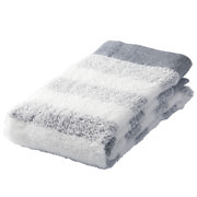Organic Ct Gauze Pile Soft F/towel Nvy Border 16aw