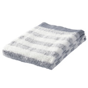Organic Ct Gauze Pile Soft B/towel Nvy Border 16aw