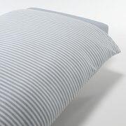 Organic Cotton Jersey Duvet Cover Q D.blue Border S16