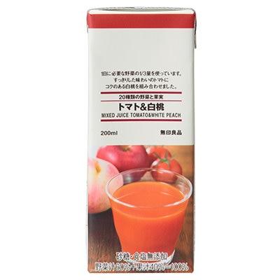 20種綜合蔬果汁/蕃茄&白桃200ml