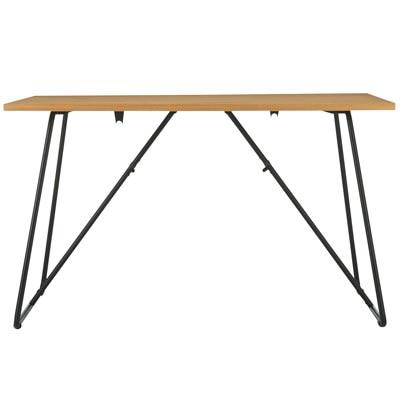 折りたたみテーブル・幅120cm・オーク材/幅120×奥行70×高さ72cmの写真