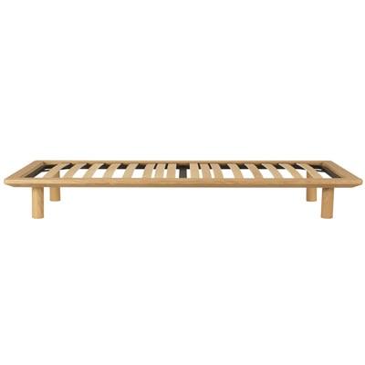 ベッドフレーム・スモール・オーク材/幅85.5×奥行202×高さ25.5cmの写真