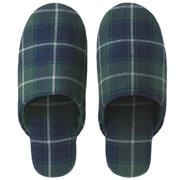 *ct Flannel Cushion Slipper L Grnchk A16