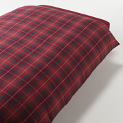 *organic Ct Flannel D/cover K Redchk A16