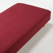 *organic Ct Flannel F/sheet Q Red A16
