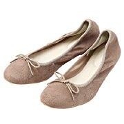 Brushed Ribbon Ballet Shoes Dark Beige S