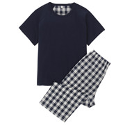 Cool Touch S/s Pajamas (3/4 Length) Navy 110