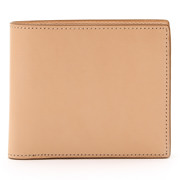 Tanned Leather Foldable Wallet Raw White