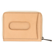 Tanned Leather Coin & Card Case Raw White