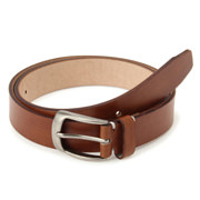 Tanned Leather Hand Dyeing Belt Brown
