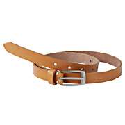 Tanned Leather Hand Dyeing Slim Belt Camel