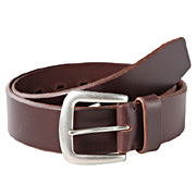 Tanned Leather Wide Belt Dark Brown